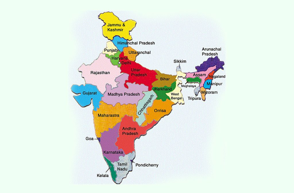 Area wise ranking of Indian States