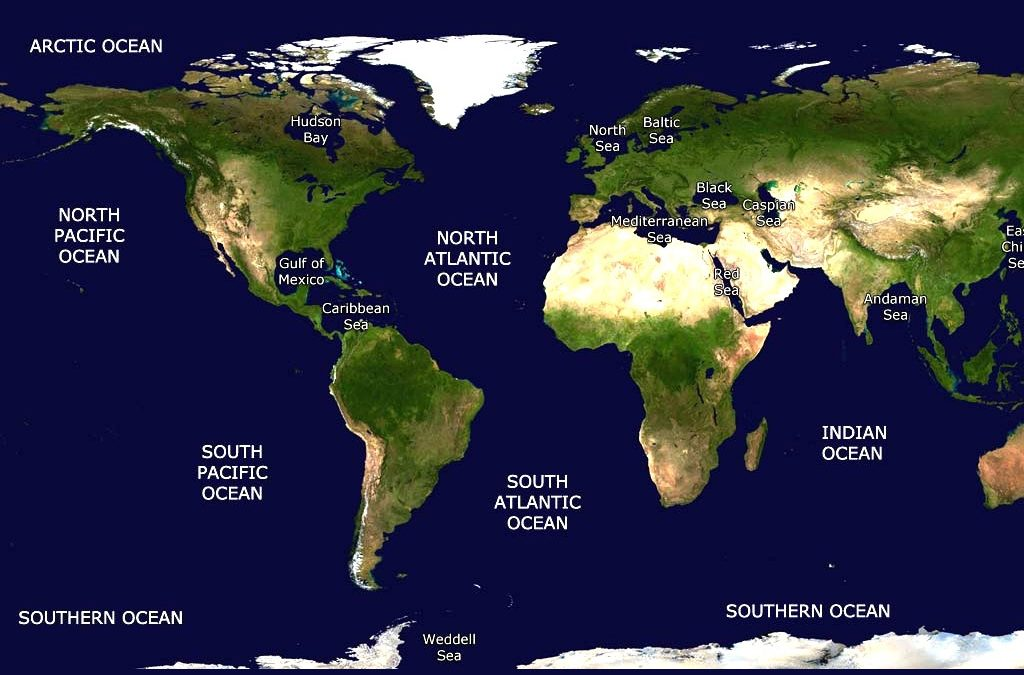 Top Five Largest Oceans of the World - General Knowledge